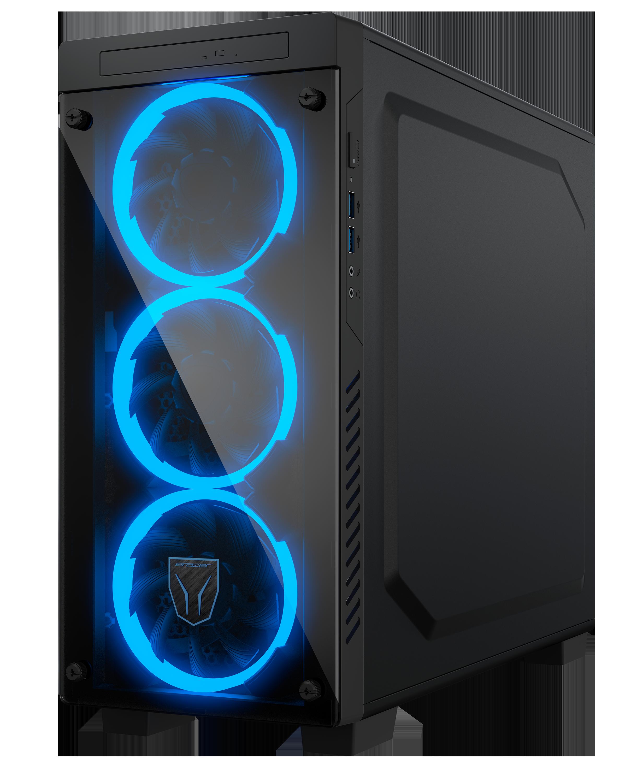 X61 behuizing binnen aanzicht met RTX 2070