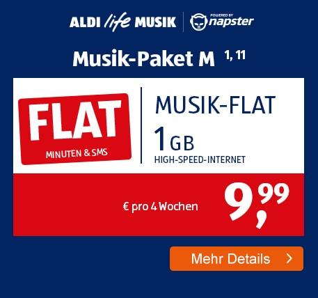ALDI TALK Allnet-Flat Musik Paket M