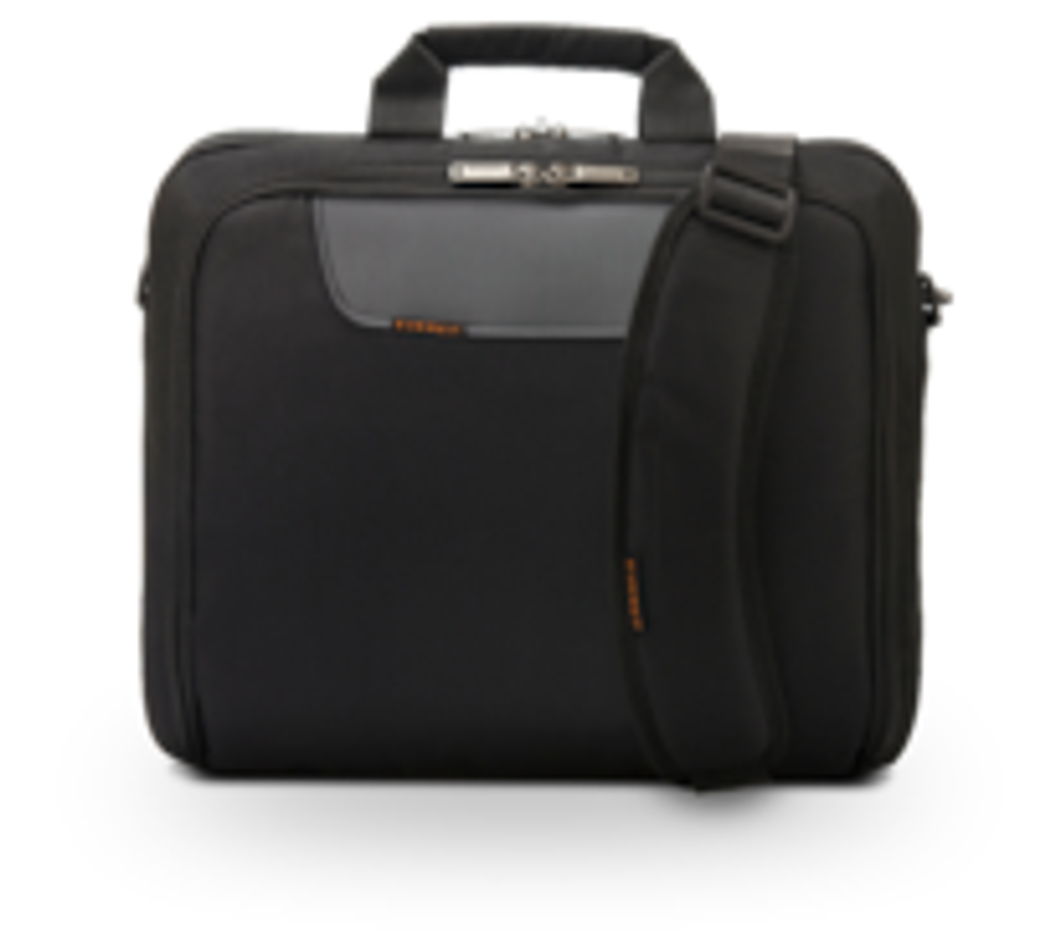 Everki® Advance Laptoptasche für Geräte bis 17,3-Zoll, Schulterpolster, Trolleylasche, Selbstheilende Reißverschlüsse