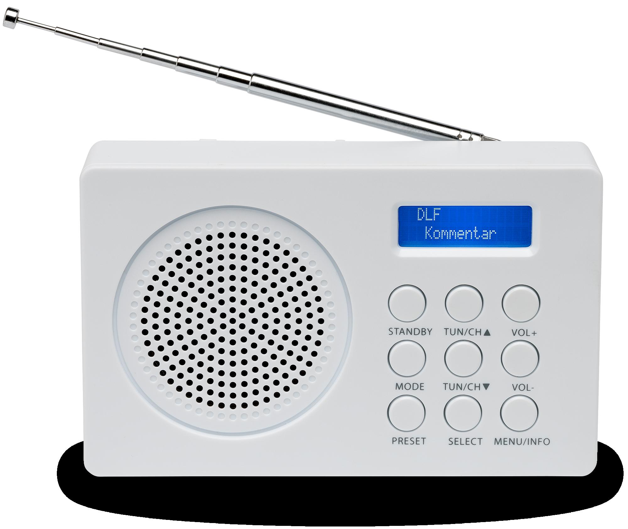 MEDION® LIFE E66320 Draagbare DAB+ Radio (wit)