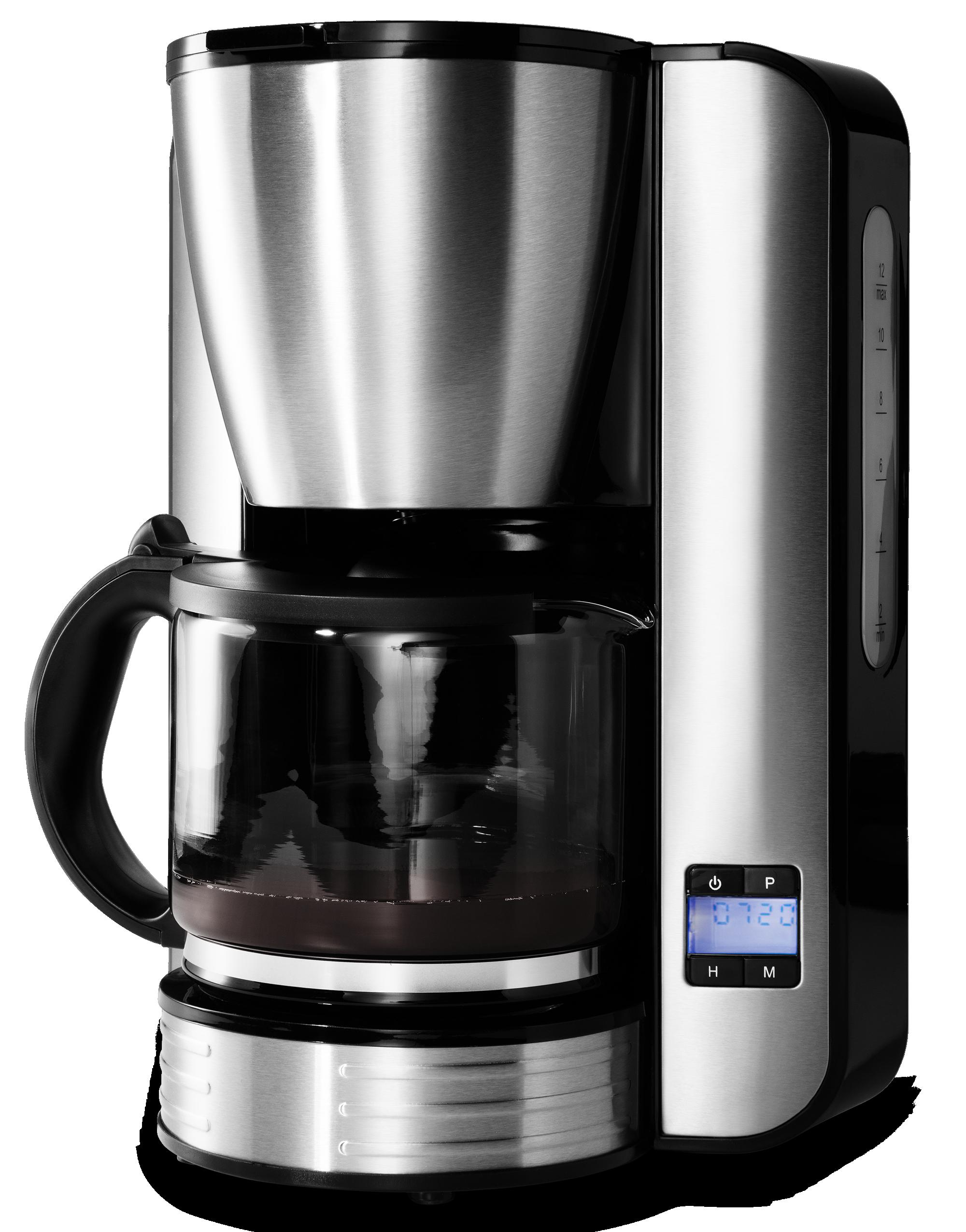Medion RVS koffie apparaat in gebruik