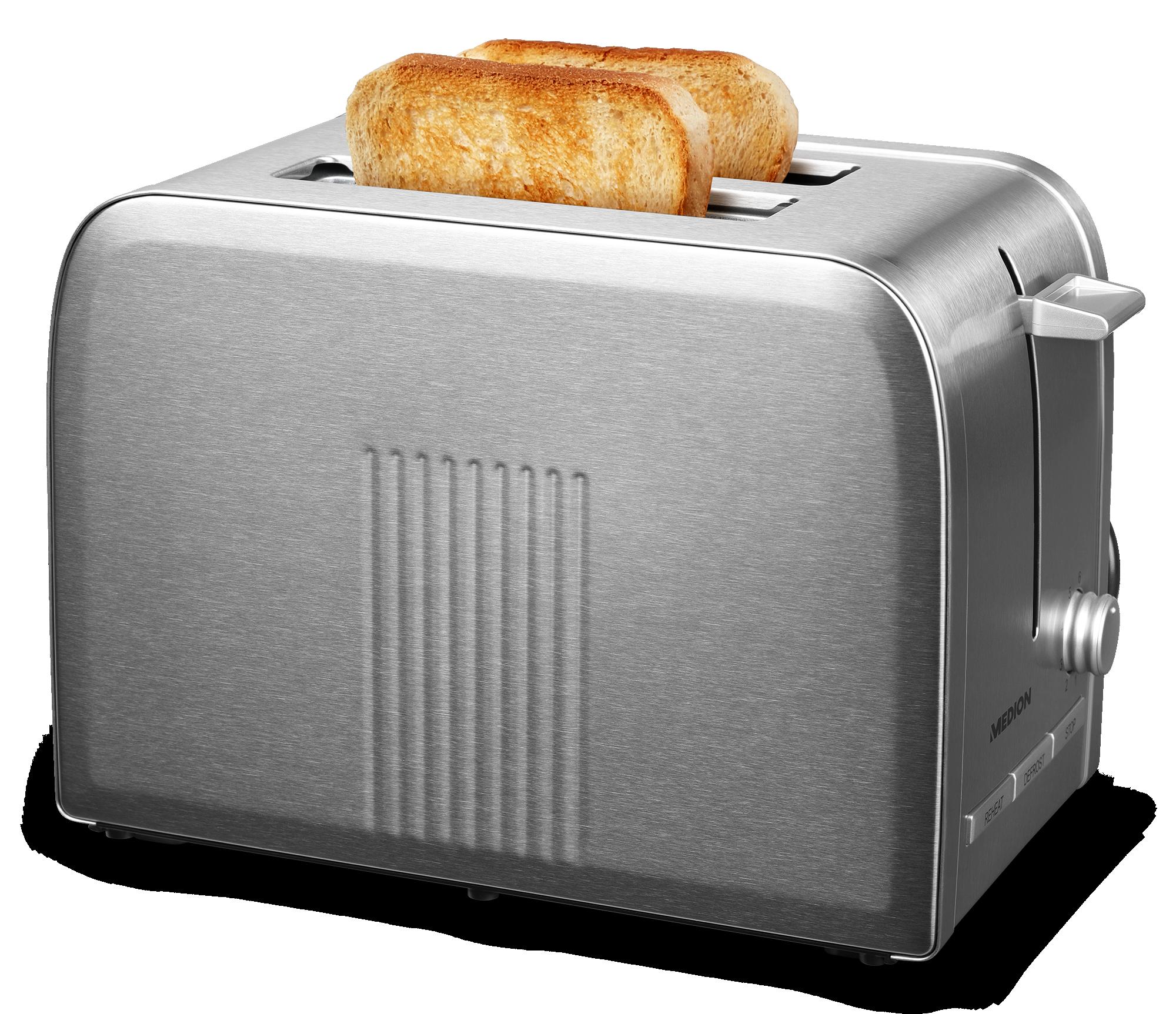 Luxe Toaster met 2 sneden brood erin