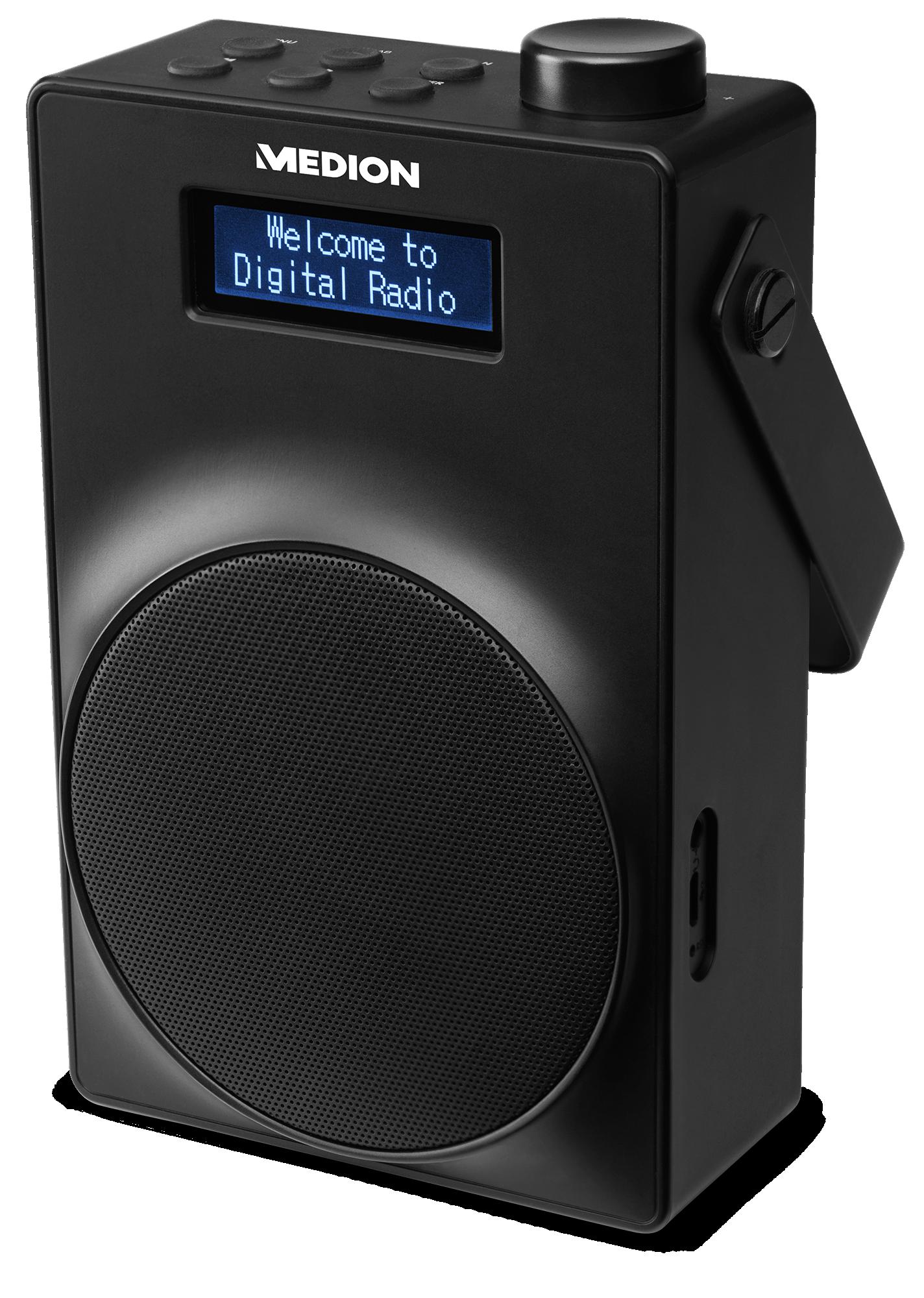 Rechteraanzicht portable dab+ radio
