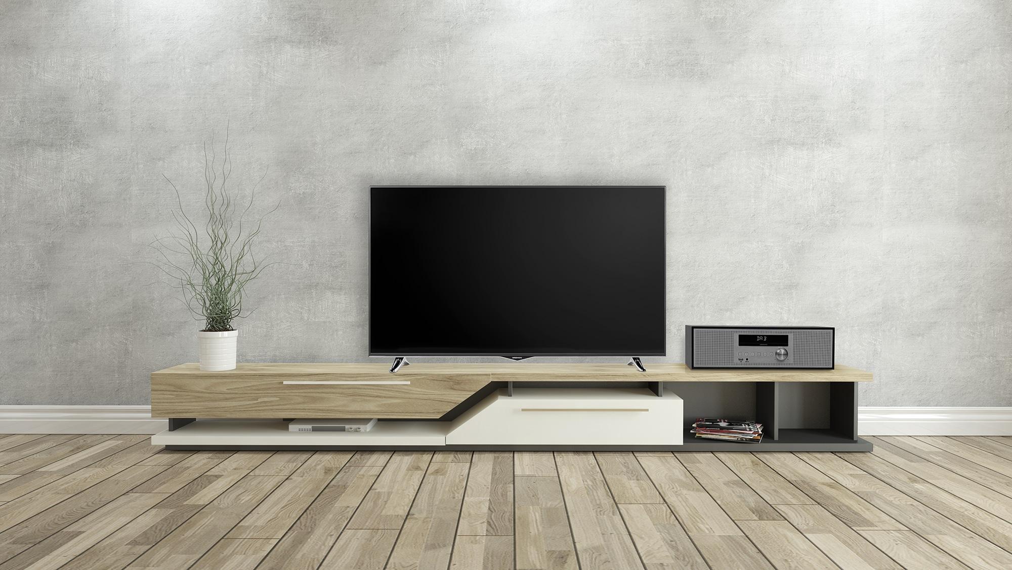 de P64477 In de huiskamer naast de TV