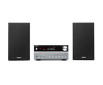 MEDION® LIFE® P66063 Micro-Audio-System mit CD-Player, Bluetooth 3.0, USB-Anschluss & -Ladefunktion, AUX-Anschluss, PLL-UKW-Stereo-Radio, 2 x 15 W RMS, silber