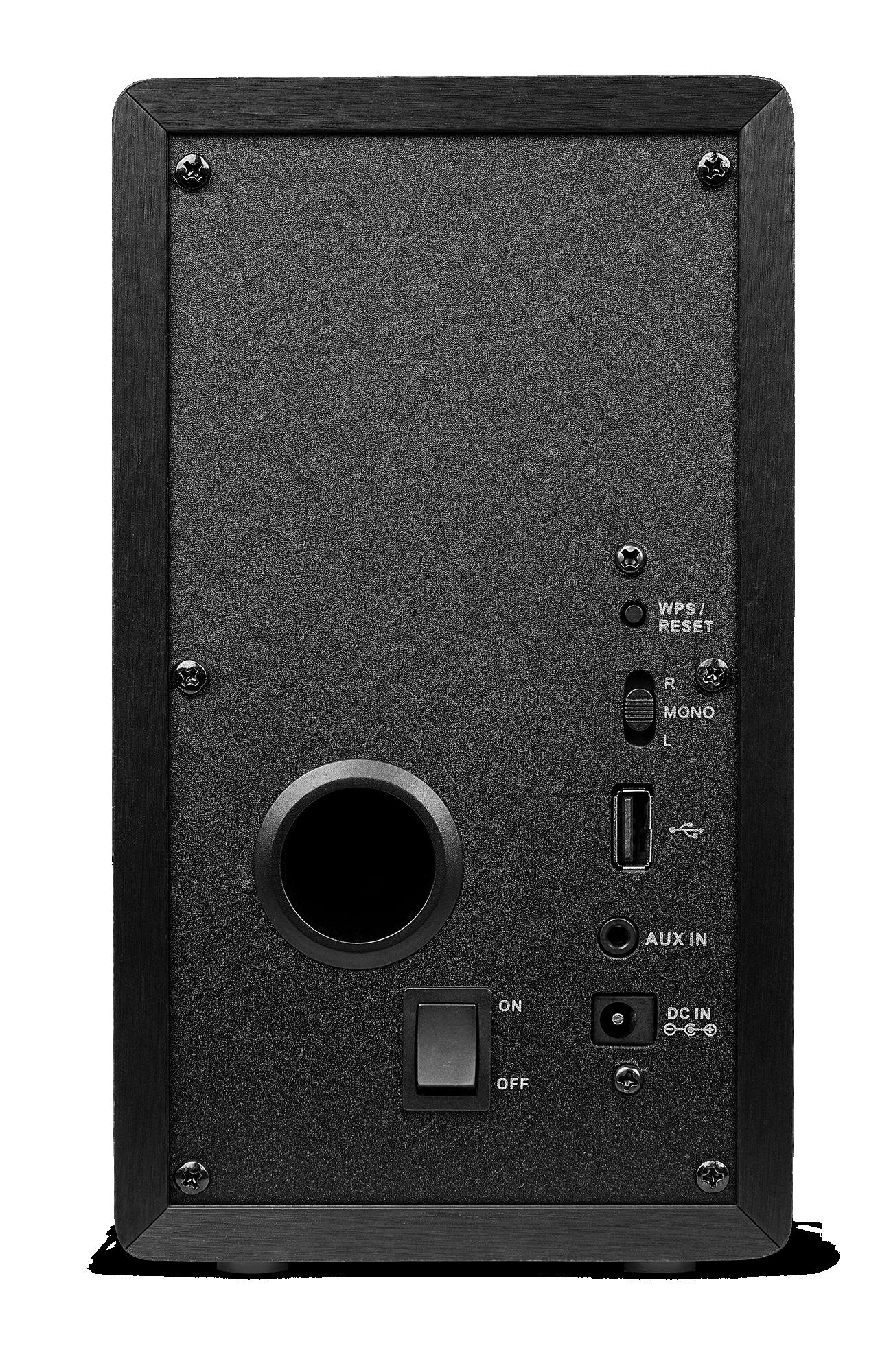 Achterzijde van de smart speaker van Medion