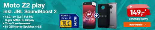 ALDI TALK - Top Angebot: moto z2 play inkl. JBL SoundBoost 2
