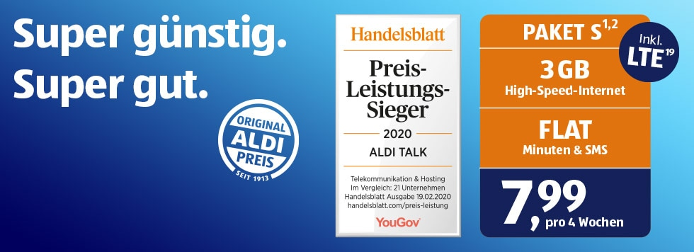ALDI TALK - Super günstig. Super gut.