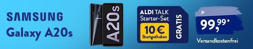 Samsung Galaxy A20s für €99,99 bei ALDI TALK