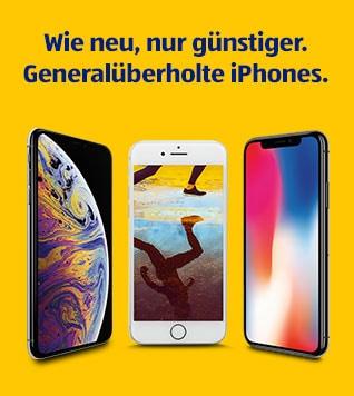 Wie neu, nur günstiger. Generalüberholte iPhones.