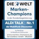 Kunden wählen ALDI TALK zum Marken-Champion