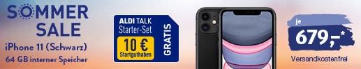 iPhone 11 bei ALDI TALK - jetzt neu mit 0% Finanzierung