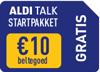 Bij deze smartphone ontvangt u een Aldi Talk Prepaid kaart TWV € 10,00
