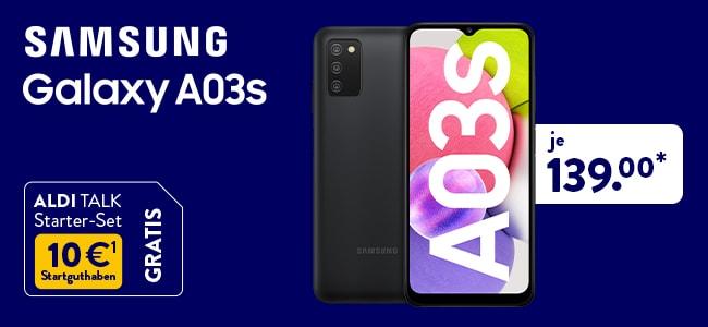 Samsung A03s für 139,- Euro bei ALDI TALK
