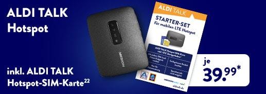 ALDI TALK mobiler LTE/WLAN Hotspot für 39,99 Euro