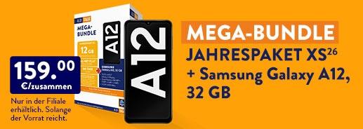 ALDI TALK - MEGA BUNDLE: Jahrespaket XS (26) + SAMSUNG GALAXY A12