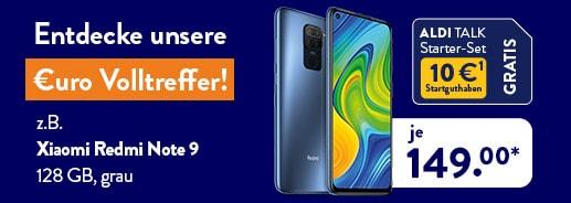 ALDI TALK - Angebote von Xiaomi- z.B. Xiaomi Note 9 und Xiaomi Note 10