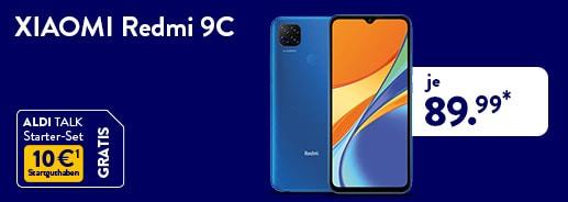 XIAOMI Redmi 9C 32 GB für 89,99 Euro bei ALDI TALK