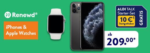 ALDI TALK - iPhones und Apple Watches von renewd
