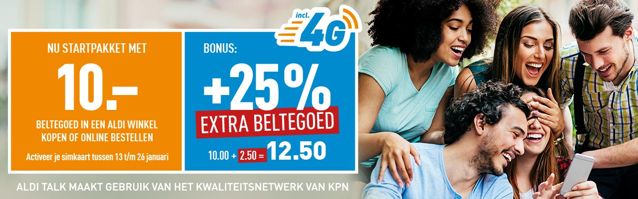 ALDI TALK +25% Extra Beltegoed