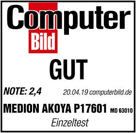 Computerbild Testsiegel MD 63010 P17601