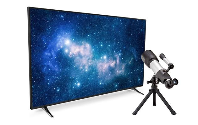 Läuft bei mir TV und Teleskop MEDION