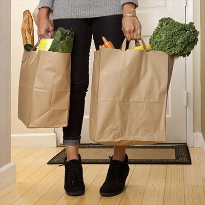 Smart Home Einkaufstüten Hände voll MEDION