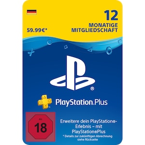 Sony PlayStation Plus: Mitgliedschaft für 12 Monate DE