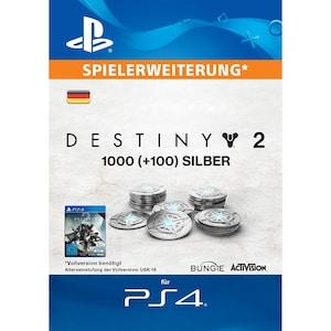 1.000 (+100 Bonus) Destiny 2-Silberstücke - Playstation (DE)