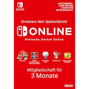 Nintendo Switch Online (Einzelmitgliedschaft - 3 Monate)