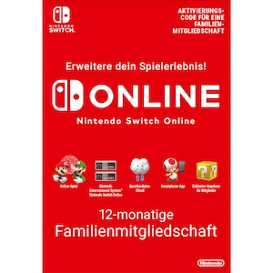 Nintendo Switch Online (Familienmitgliedschaft - 12 Monate)