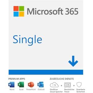 Microsoft Office 365 Single (1 Nutzer/mehrere Geräte) Jahresabonnement