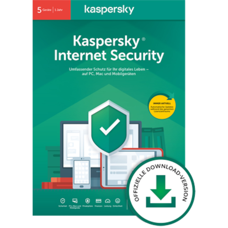 Kaspersky Internet Security (5Geräte - 1Jahr)