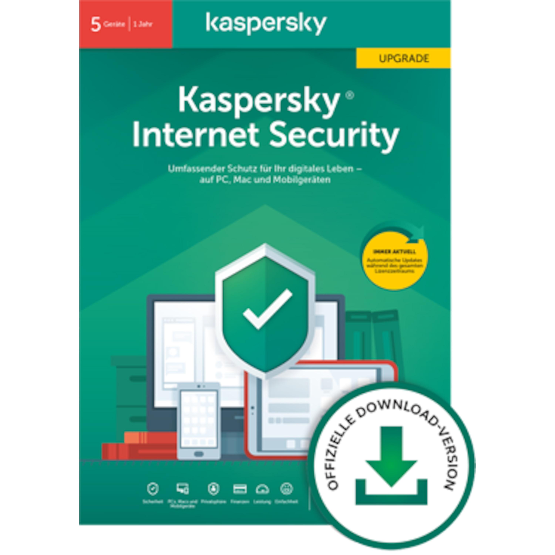 Kaspersky Internet Security - Upgrade (5Geräte - 1Jahr)