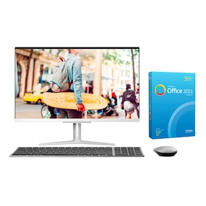 MEDION® AKOYA® E27401, Intel® Core™ i3-1005G1, Windows10Home, 68,6 cm (27'') FHD Display, 512 GB SSD, 8 GB RAM, Aluminium-Design, All-in-One PC, inkl. SoftMaker Office Standard 2021