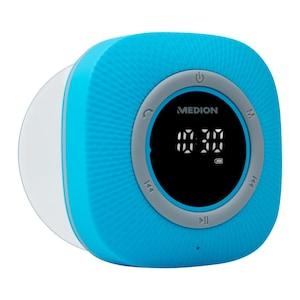 MEDION® LIFE P66096 Doucheradio | LED-display | FM | IPX6 bescherming | Bluetooth 5.0 | 30 W uitgangsvermogen