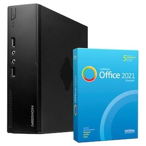 MEDION® AKOYA® S22003, Intel® Core™ i3-5005U, Windows10Home, 256 GB SSD, 8 GB RAM, Mini-PC, inkl. SoftMaker Office Standard 2021