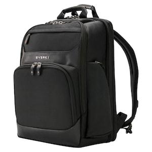 EVERKI Onyx Premium laptoprugzak, voor apparaten tot 15,6'', hardshell compartiment, hoekbescherming, RFID-blokkerend compartiment, trolleyriem