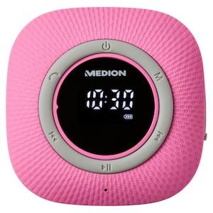 MEDION® LIFE P66096 Doucheradio | LED-display | FM | IPX6 bescherming | Bluetooth 5.0 | 30 W uitgangsvermogen | Roze