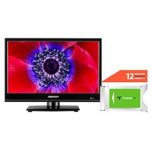 MEDION® LIFE® E11960 47 cm (18,5'') LCD-TV + DVB-T 2 HD Modul (12 Monate freenet TV gratis) - ARTIKELSET