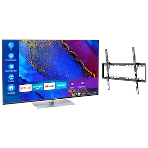 MEDION® Offre combinée ! LIFE® X14360 Ultra HD Smart-TV 43 pouces & GOOBAY Basic TILT (L) Support mural