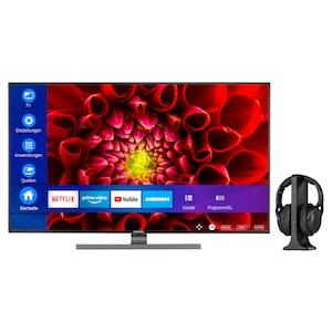 MEDION® LIFE® S16512 163,8 cm (65'') Ultra HD Smart-TV + E62003 Funkkopfhörer - ARTIKELSET