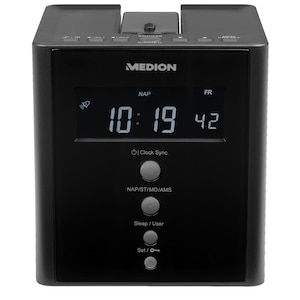 MEDION® LIFE® E66395 Projectieklokradio | Projectie van de tijd op muren of plafonds | PLL-FM-radio | Automatische tijdinstellingen (RDS)