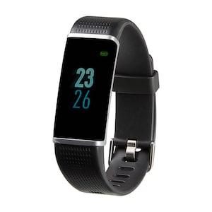 MEDION® LIFE® Fitnessarmband S3500, 2,44 cm (0,96) Display, flexibles Armband, Bluetooth, Schlafüberwachung, Kalorienverbrauchsmesser, Schrittzähler, mit Wechselarmband  (B-Ware)
