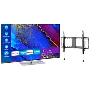 MEDION® Offre combinée ! LIFE® X15061 Ultra HD-TV 50 pouces & GOOBAY Pro TILT (L) Support mural