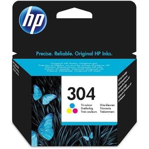 HP 304 Original Druckerpatrone Farbe, Cyan/Magenta/Gelb, gestochen scharfe Texte, Bilder und Grafiken in brillanten Farben, zum Drucken von hochwertigen Fotos und Dokumenten, zuverlässige Druckqualität