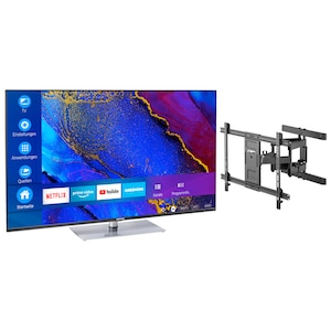 MEDION® Offre combinée ! LIFE® X14360 Ultra HD Smart-TV 43 pouces & GOOBAY Pro FULLMOTION (L) Support mural