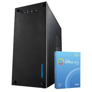 MEDION® AKOYA® E32013, AMD Ryzen™ 5 PRO 4650G, Windows10Home, 512 GB SSD, 8 GB RAM, Multimedia PC, inkl. SoftMaker Office Standard 2021
