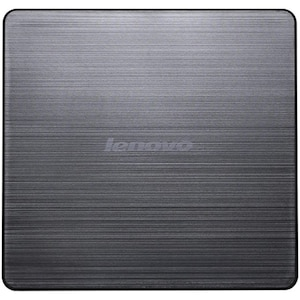 LENOVO Slim DVD-Brenner DB65, zum Beschreiben und Abspielen von CDs und DVDs, ultrakompakte und stabile Lösung für zu Hause und unterwegs