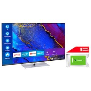 MEDION® LIFE® X16564 163,9 cm (65'') Ultra HD Smart-TV + DVB-T 2 HD Modul (3 Monate freenet TV gratis) - ARTIKELSET